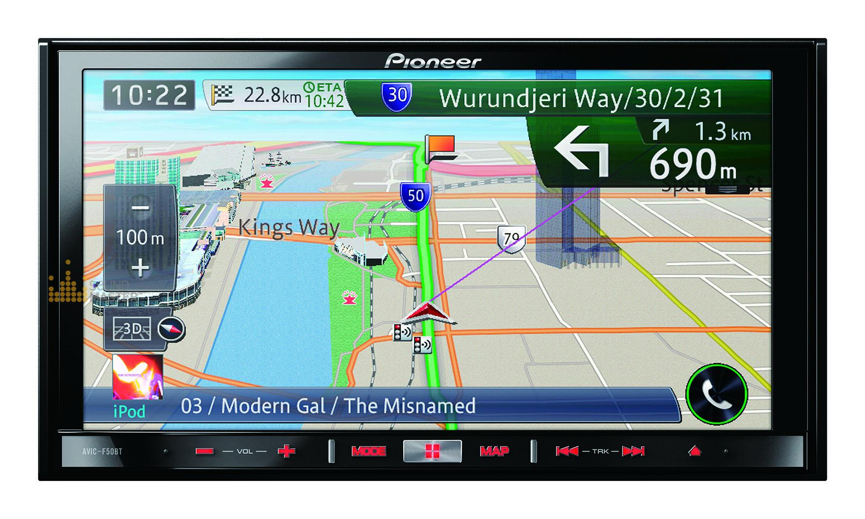 1669) Pioneer AVIC-F50BT Navigation System with Bluetooth and ...