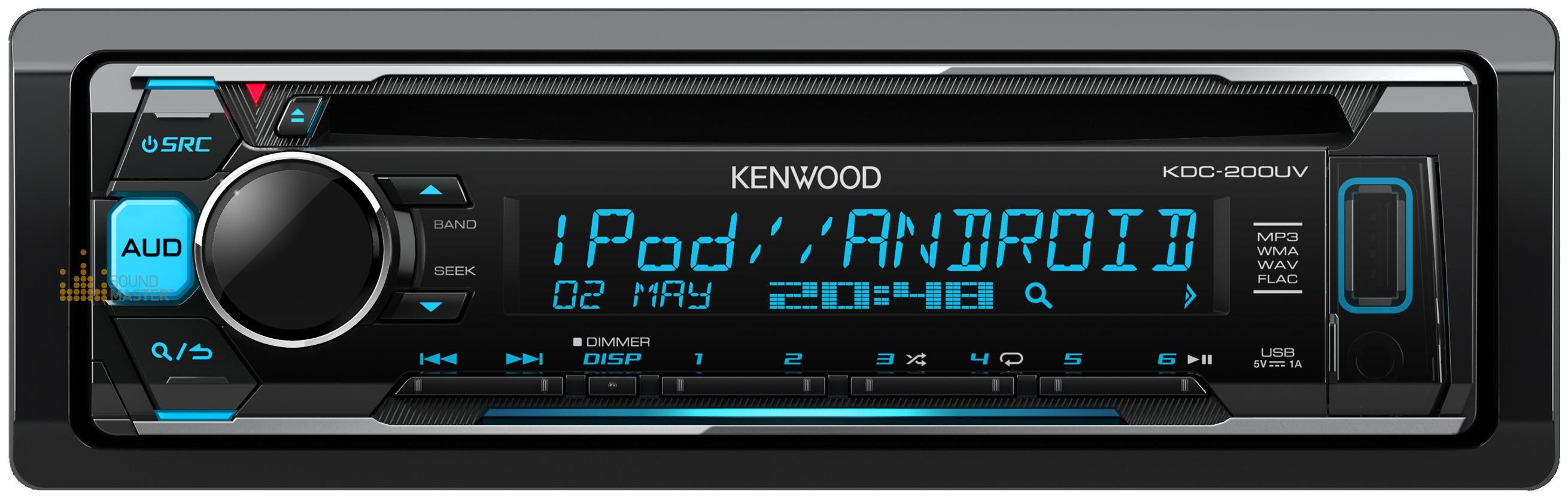 129 kenwood kdc 200uv cd usb iphone android support variable kenwood kdc 200uv cd usb iphone android support variable illumination